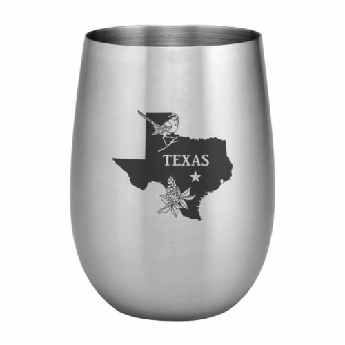 Supreme Housewares 20oz Stainless Steel Glass, Texas Perspective: front