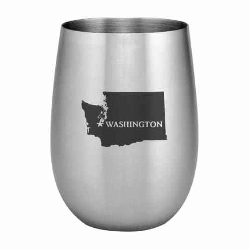Supreme Housewares 20oz Stainless Steel Glass, Washington Perspective: front