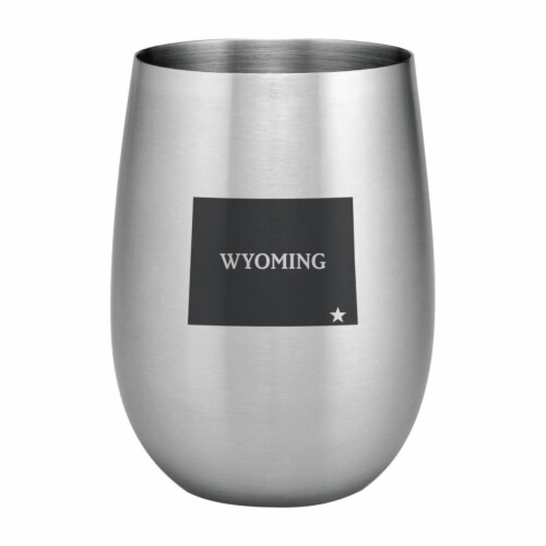 Supreme Housewares 20oz Stainless Steel Glass, Wyoming Perspective: front