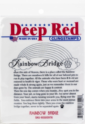 Deep Red Cling Stamp 3.2 X3 -Rainbow Bridge Perspective: front