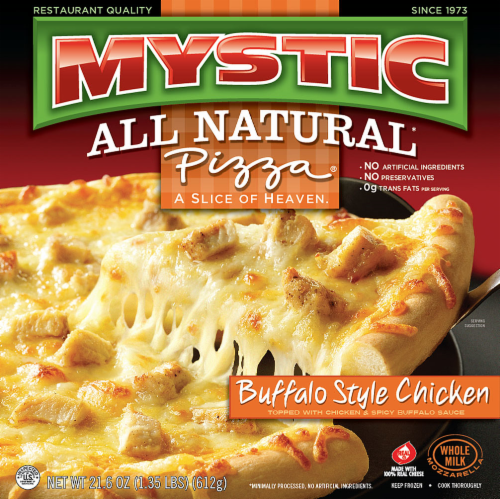 Mystic All Natural Buffalo Style Chicken Pizza Perspective: front