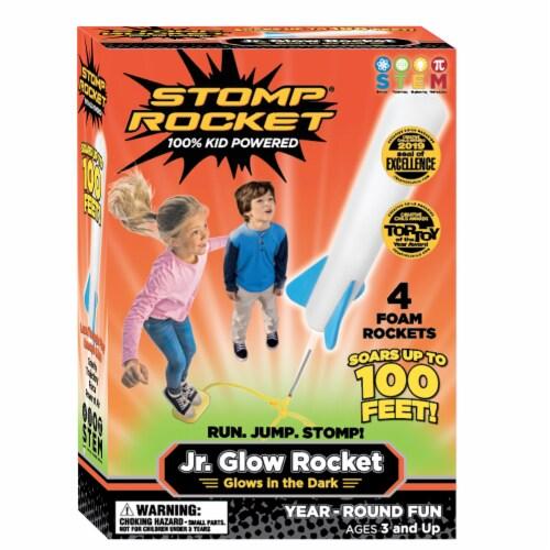 The Original Stomp Rocket Jr. Glow Rocket Perspective: front