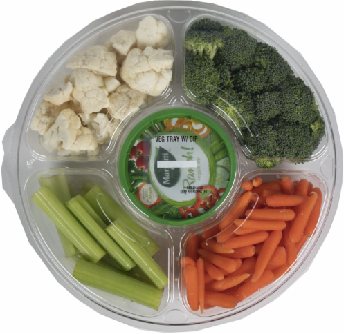 Crazy Fresh Vegetable Tray with Ranch Dip Perspective: front