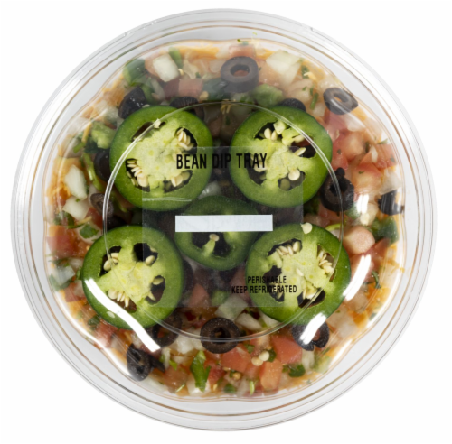 Crazy Fresh Bean Dip Tray Perspective: front