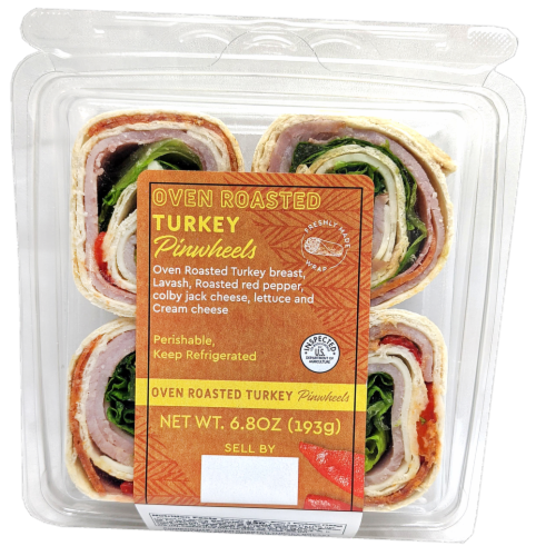 Crazy Fresh Oven Roasted Turkey Pinwheel Perspective: front