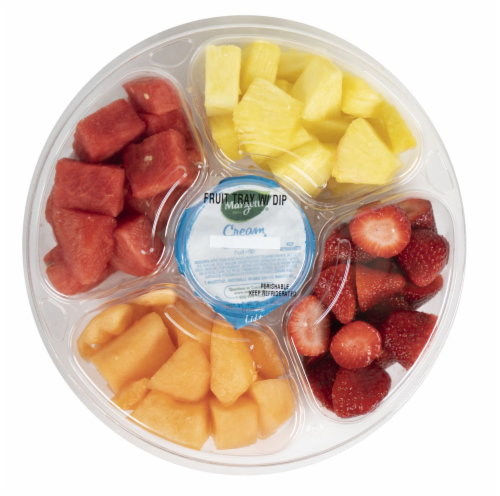 Crazy Fresh Fruit Tray with Dip Perspective: front