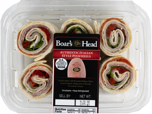 Boar's Head Authentic Italian Style Pinwheels Perspective: front
