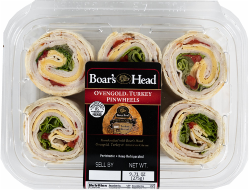 Boar's Head Ovengold Turkey Pinwheels Perspective: front