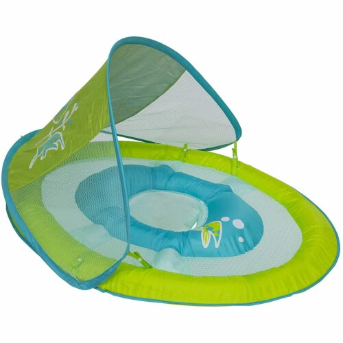 SwimWays 6038626 Spring Float Sun Canopy Baby Swim Pool Float, Colors May Vary Perspective: front
