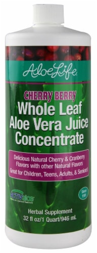Aloe Life  Whole Leaf Aloe Vera Juice Concentrate   Cherry Berry Perspective: front