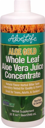 Aloe Life  Whole Leaf Aloe Gold Herbal Bitter Concentrate   Natural Perspective: front