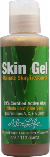 Aloe Life  Skin Gel Ultimate Skin Treatment Unscented Perspective: front