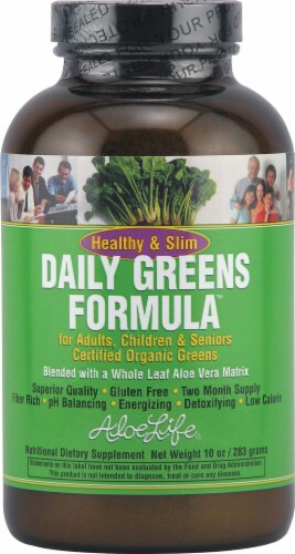 Aloe Life  Healthy and Slim Daily Greens Formula™ Perspective: front