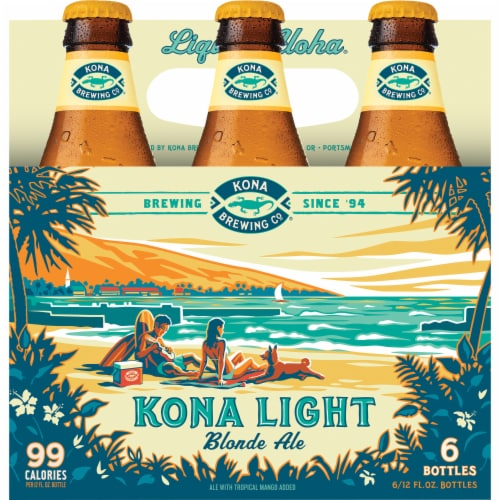 Kona Brewing Co. Kona Light Blonde Ale Perspective: front