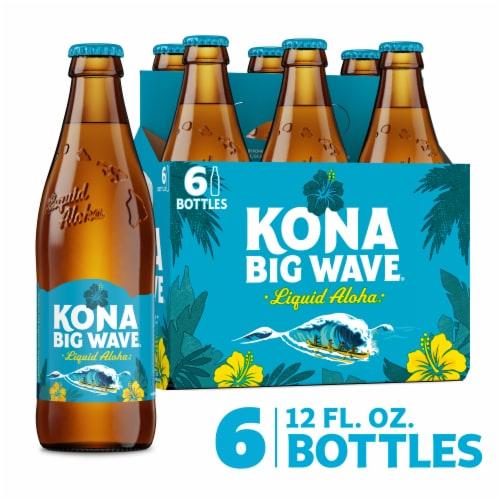 Kona Brewing Co. Big Wave Golden Ale Beer Perspective: front