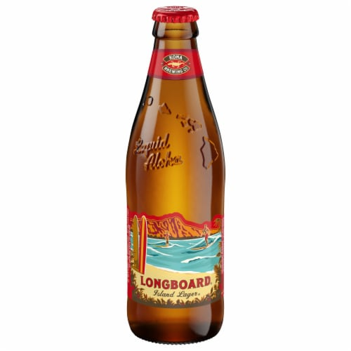 Kona Brewing Co. Longboard Island Lager Beer Perspective: front