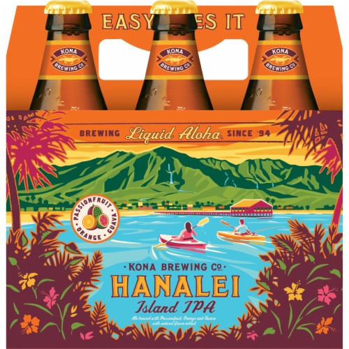 Kona Brewing Co. Hanalei Island IPA Perspective: front