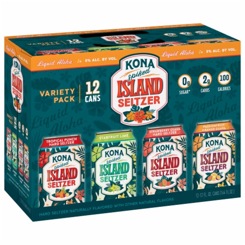 Kona Brewing Co. Spiked Island Seltzer Variety Pack Perspective: front