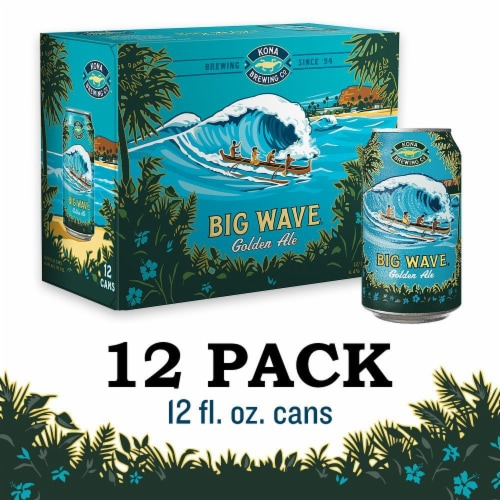 Kona Brewing Co. Big Wave Golden Ale Perspective: front