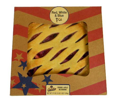 Legendary Bakery Red White and Blue Fruit Pie Perspective: front