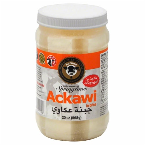 Karoun Ackawi Cheese in Brine Perspective: front