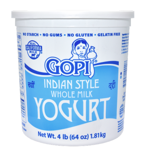 Gopi Indian Style Whole Milk Yogurt Perspective: front