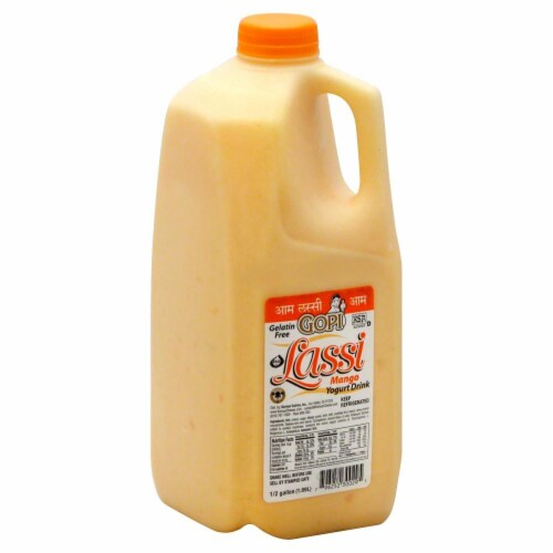 Gopi Lassi Mango Yogurt Drink Perspective: front