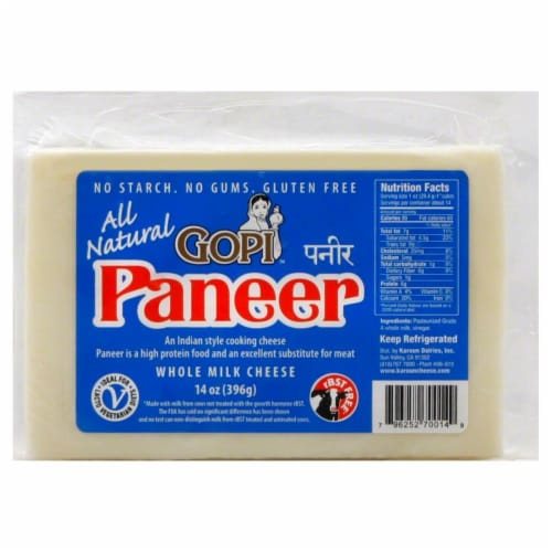 Gopi Paneer Whole Milk Cheese Perspective: front