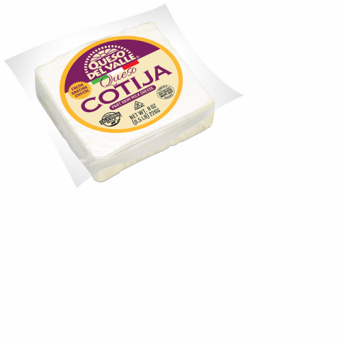 Queso Del Valle Cotija Cheese Perspective: front