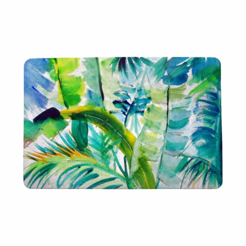 Betsy Drake DM1116 18 x 26 in. Jungle Greens Door Mat Perspective: front
