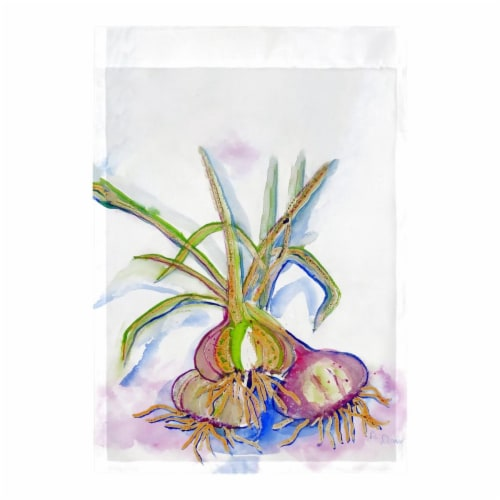 Betsy Drake FL1101 12.5 x 18 in. Vidalia Onions Flag Perspective: front