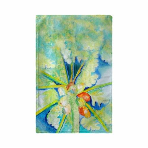 Betsy Drake KT1100 Papaya Tree Kitchen Towel Perspective: front