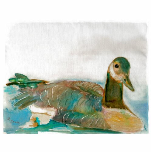 Betsy Drake PM241 Goose Right Place Mat - Set of 4 Perspective: front