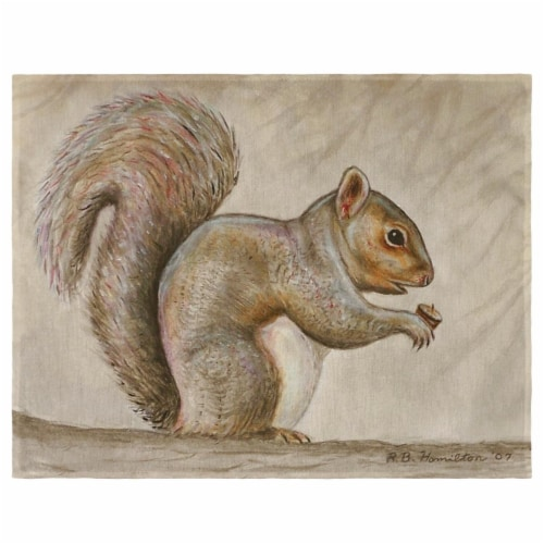 Betsy Drake PM314 Squirrel Place Mat - Set of 4 Perspective: front