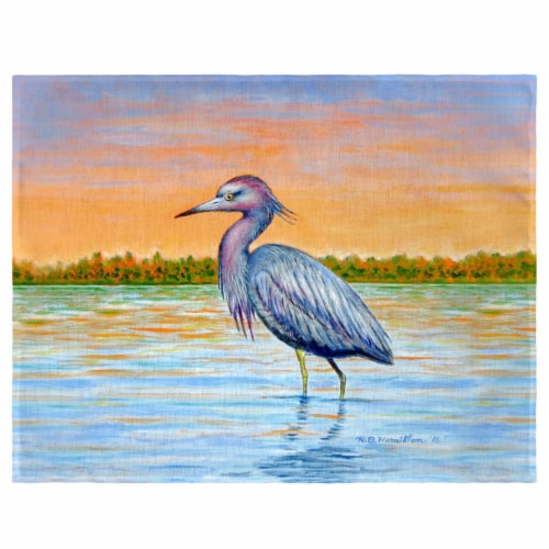 Betsy Drake PM493 Heron & Sunset Place Mat - Set of 4 Perspective: front