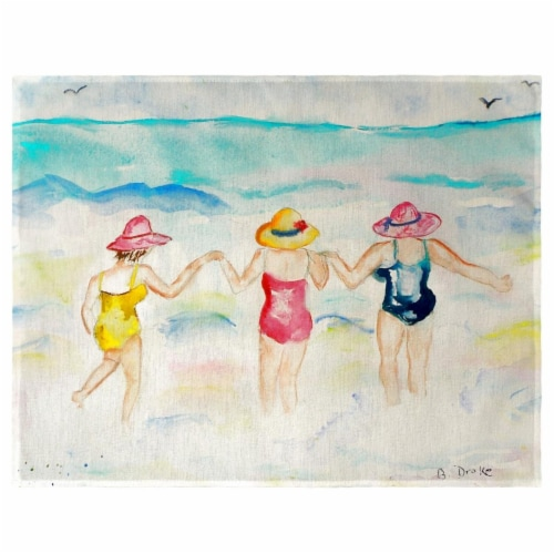 Betsy Drake PM607 Ladies Wading Place Mat - Set of 4 Perspective: front