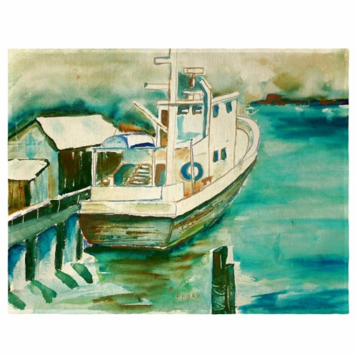 Betsy Drake PM932 Oyster Boat Place Mat - Set of 4 Perspective: front