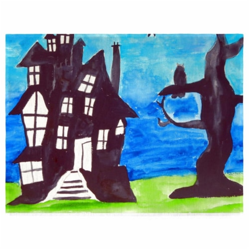 Betsy Drake PM1041 Haunted House Place Mat - Set of 4 Perspective: front