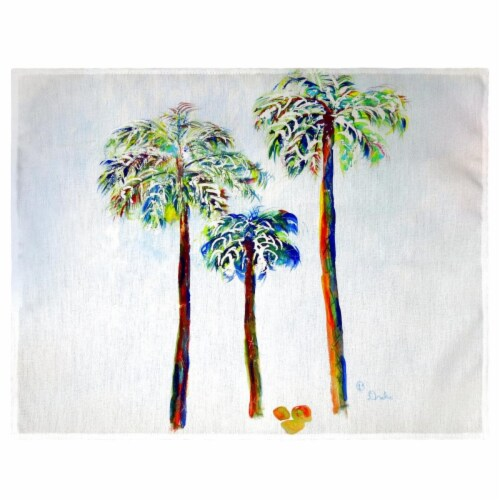 Betsy Drake PM1106 Three Palms Place Mat - Set of 4 Perspective: front