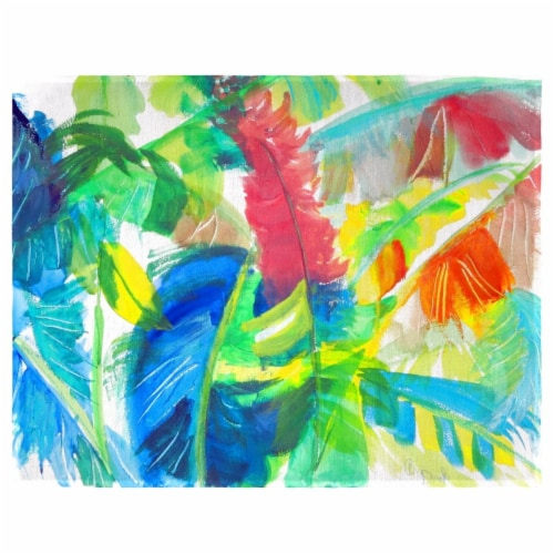 Betsy Drake PM1113 Abstract Palms Place Mat - Set of 4 Perspective: front