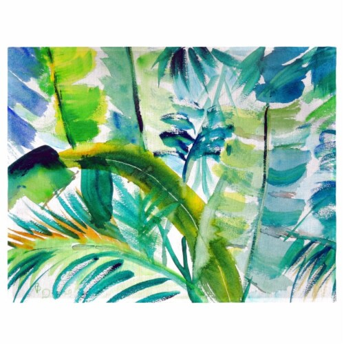 Betsy Drake PM1116 Jungle Greens Place Mat - Set of 4 Perspective: front