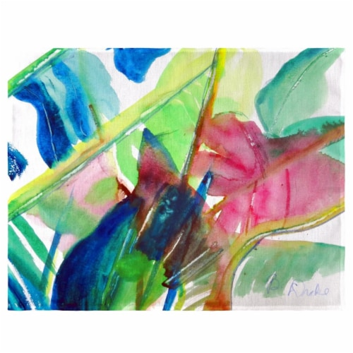 Betsy Drake PM1123 Pink Palms Place Mat - Set of 4 Perspective: front