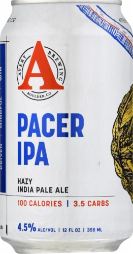 Avery Brewing Co. Pacer IPA 100 Calories Perspective: front