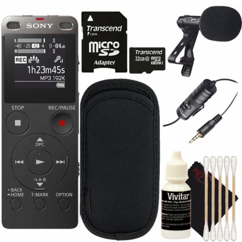 Sony Icd-ux560 Digital Voice Recorder With Built-in Usb With Cleaning Accessory Kit Perspective: front