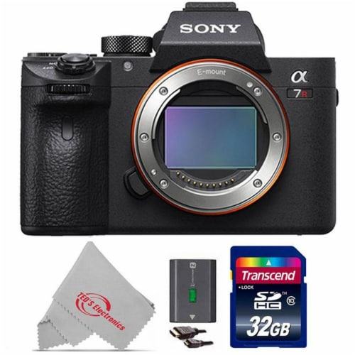 Sony Alpha A7r Iii Mirrorless Digital Camera (body Only) + 32gb Memory Card Perspective: front