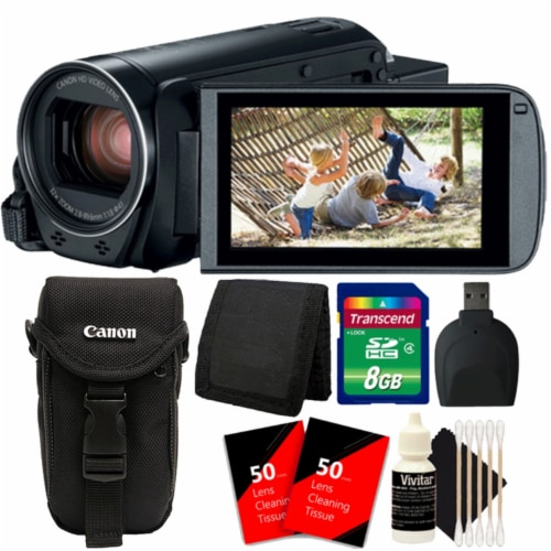 Canon Vixia Hf R800 1960c002 3.28mp Full Hd Video Camcorder With 8gb Cleaning Accessory Kit Perspective: front