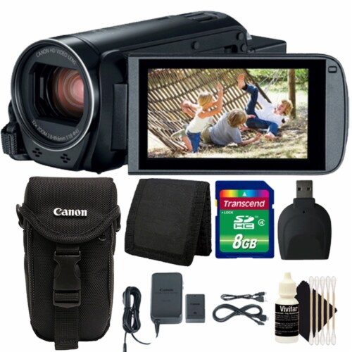 Canon Vixia Hf R800 1960c002 3.28mp Full Hd Video Camcorder With Top Accessory Kit Perspective: front