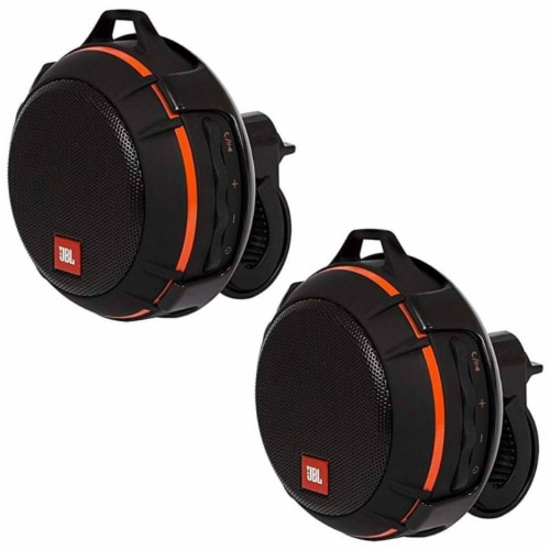 Two Jbl Wind Bike Portable Bluetooth Speaker Withfm Radio Supports A Micro Sd Card - Black Perspective: front