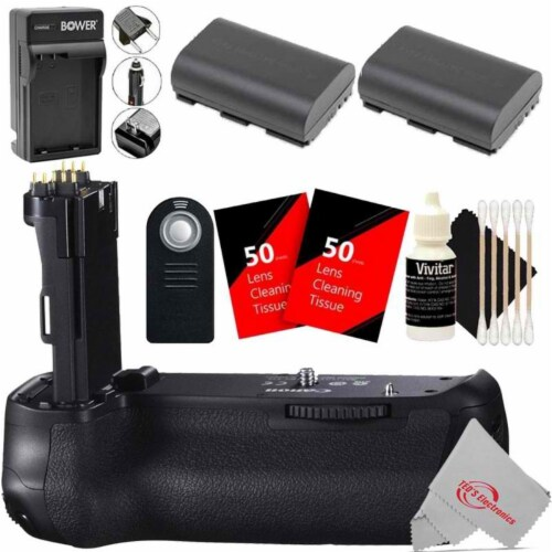 Vivitar Battery Grip For Canon 90d 80d 70d + Replacement Battery Accessory Kit Perspective: front