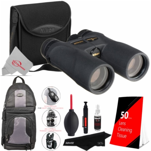 Nikon 10x42 Prostaf 5 Wp Binocular 7571 With Lens Tissue, Backpack And Cleaning Kit Perspective: front